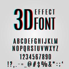 font stereoscopic 3d effect