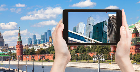 picture of Moscow City on tablet pc