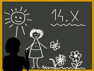 Dzień nauczyciela -rysunek dla Pani