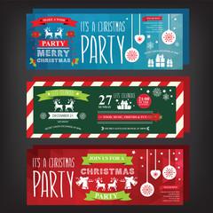 Poster invitation Merry Christmas.