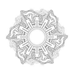 exquisite mandala pattern design