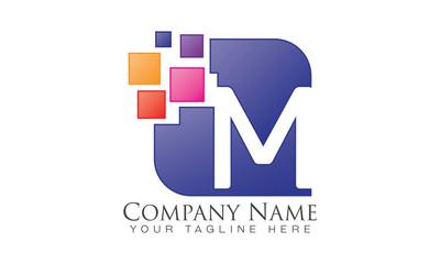 M - Pixel - Vector Logo Letters