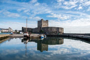 Medieval Norman Castle in Carrickfergus, Belfast, Northern Ireland