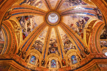 Dome Stained Glass San Francisco el Grande Madrid Spain