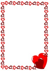 рамка сердечки