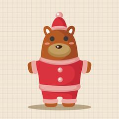 Keuken foto achterwand Beren animal bear cartoon christmas style theme elements