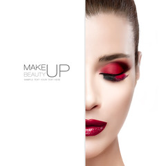 Beauty and Makeup concept. Template Design