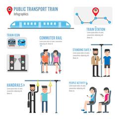 Public transport train infographics