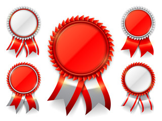 Red Award Medals