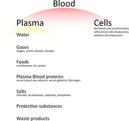 Human blood components