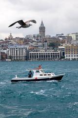 Galata tower in Istanbul, Turkey.