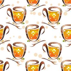 tea cups seamless pattern