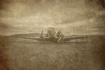 combat aviation retro grunge background