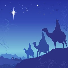 Three wise men. Vector