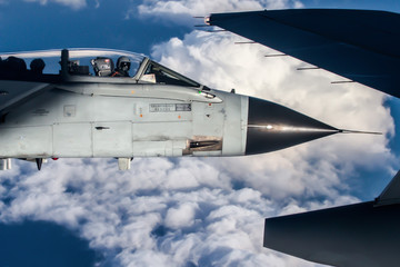 Tornado Panavia closeup air to air formation flight
