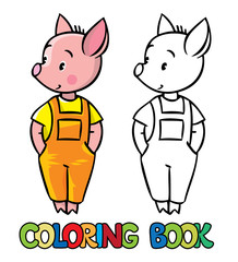 Little piglet. Coloring book