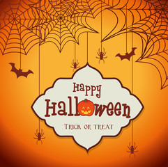 Happy halloween party festival card