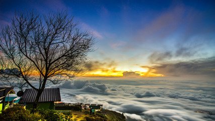 Sea of mist in the thailand