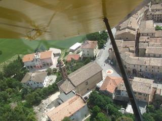 Foto aerea da aereo di paesaggio di campagna