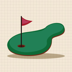 golf equipment theme elements