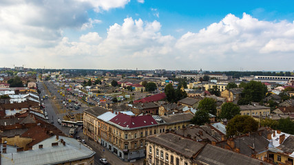 Aerial view of Lviv, Ukraine