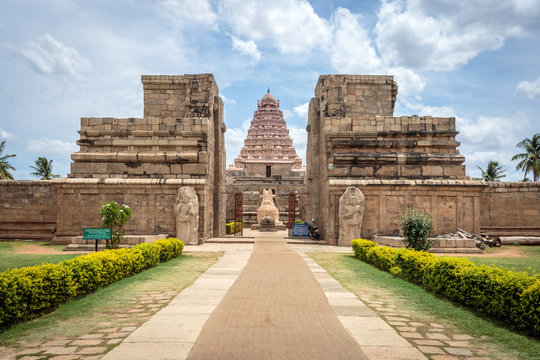 Ancient Hindu Shiva temple built in 11th century in Tamil Nadu, India