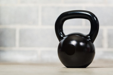 Kettlebell on Concrete Background