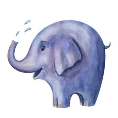 Illustration of blue elephant