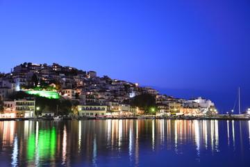 Evening view of Skopelos