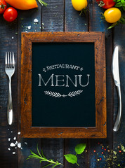 Cafe menu restaurant brochure. Food design template