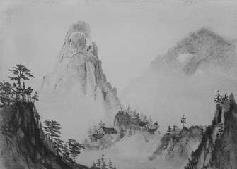 Chinese painting Mountain