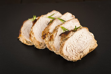 slices of roast ham