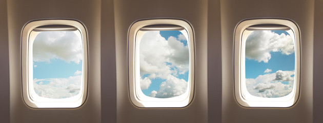 Printed kitchen splashbacks Airplane airplane windows