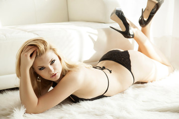 Beautiful and sexy woman in lingerie