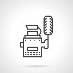 Simple line wheel balance vector icon