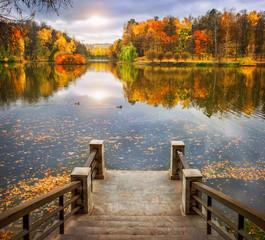 Осенний прудик Autumn pond