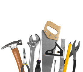 Tools isolated on white