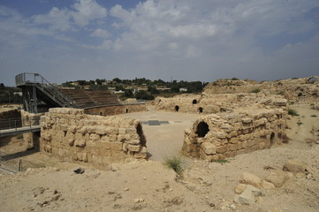 Ruins of the ancient amphitheater in Beit Guvrin