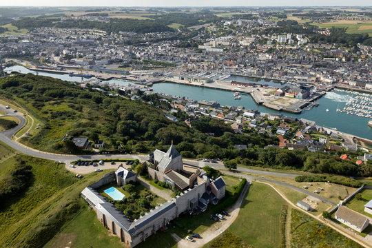 Vue aérienne de Fécamp Seine maritime 76