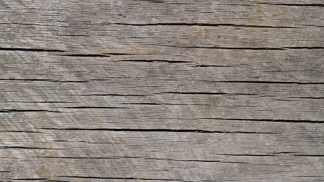 Worn and Weathered Horizontal Grained Wood Background