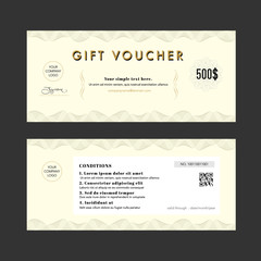 Gift Voucher Elegant design coupon Template background