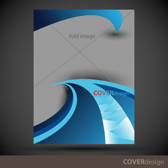 Vector brochure, flyer, cover design template. Can be used as concept for your graphic design. Proportionally for A4 size