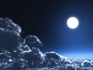 Magic moon concept