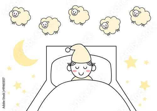 羊 睡眠 イラストfotoliacom の ストック画像とロイヤリティフリーの