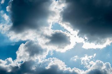 sky clouds blue white