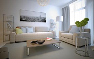 Cozy interior of contemporary lounge