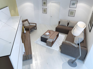 View of contemporary living room