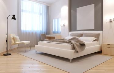 Elegant avangard bedroom interior