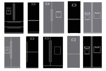 Refrigerators set.