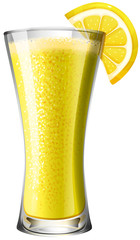 Lemon mocktail smoothie in glass